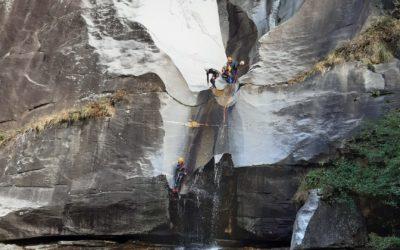 Canyoning dans la région de Biasca